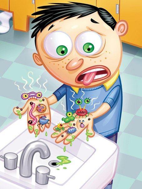 Рождения, смешные картинки микробов для детей