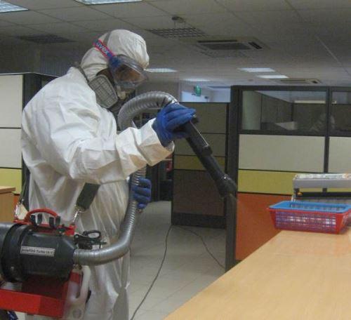 химическая дезинфекция помещения